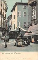 SUISSE Svizzera Un Saluto Da LUGANO Mercato Marché Dans Une Rue De Lugano Carte Précurseur - TI Tessin
