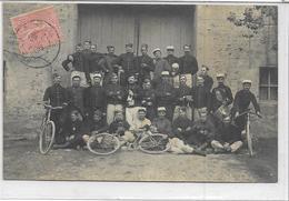 52 HUMES . Carte-photo , La Garnison Fait Halte  , édit : Sans , écrite En 1906 , Le 25 Août , état Extra - Francia