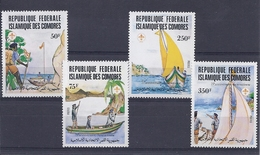 190031823   COMORES  YVERT    Nº  362/5  **/MNH - Isole Comore (1975-...)