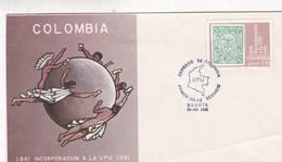 CENTENARIO INCORPORACION COLOMBIA A LA UPU FDC 1981 BOGOTA - BLEUP - Colombie