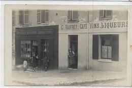 60 Environs De CHANTILLY . Carte-photo , Magasin épicerie Et G Vauffrey-café-vins-liqueurs , Années 20,  , état Extra - Chantilly
