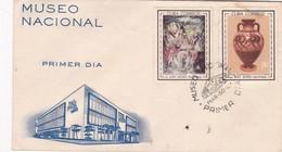 50 ANIVERSARIO MUSEO NACIONAL - FDC OBLITEREE 1961 CUBA - BLEUP - FDC