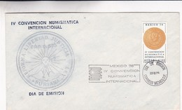 IV CONVENCION NUMISMATICA INTERNACIONAL FDC MEXICO AÑO 1976 - BLEUP - Mexique