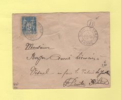 Corre - Haute Saone - 1893 - Boite Rurale D - Enveloppe Sans Correspondance - 1877-1920: Semi-moderne Periode