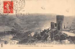 42 - St-MAURICE-sur-LOIRE - Ses Ruines Et La Loire - Autres Communes