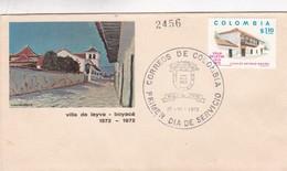 VILLA LEYVA BOYACA 400 AÑOS FDC AÑO 1972 COLOMBIA - BLEUP - Colombie