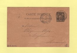 Citers - Haute Saone - 1891 - Boite Rurale C - Carte Ecrite A Quers - Type Sage - Storia Postale