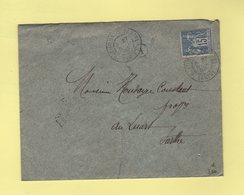 Beaumont Sur Sarthe - Boite Rurale A - 1896 - Enveloppe Sans Correspondance - Type Sage - Marcophilie (Lettres)