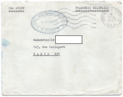LSC 1957 - Cchet Poste Aux Armées AFN & Cachet ORAN Er Régional Annexe Commissariat AIR - Algérie (1924-1962)