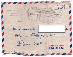LSC 1957 - Cchet Poste Aux Armées AFN & Cachet ORAN  Et Régional Annexe Commissariat AIR & Griffe 5è Région Aérienne - Algeria (1924-1962)