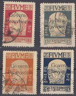 FIUME - 1921 - Lotto Di 4 Valori Usati: Yvert: 133/136. - 8. Occupazione 1a Guerra