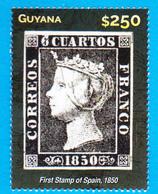 SPAIN 1st Stamp Of Spain On 2015 Guyana Stamp On Stamp - Postfris – Scharnier