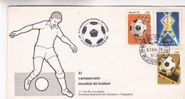 XI CAMPEONATO MUNDIAL DE FUTEBOL SOCCER FDC 1978 BELO HORIZONTE BRAZIL - BLEUP - Football