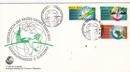 CONFERENCIA DAS NAÇOES UNIDAS SOBRE MEIO AMBIENTE E DESENVOLVIMENTO - FDC 1992 RIO DE JANEIRO BRAZIL - BLEUP - Protection De L'environnement & Climat