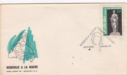 HOMENAJE A LA MADRE - FDC AÑO 1970 CORREOS DEL URUGUAY - BLEUP - Muttertag