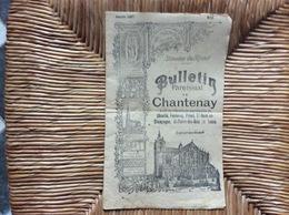 CHANTENAY Diocese Du Mans BULLETIN PAROISSIALCheville Fontenay Pirmil Sr-Ouen-en-Champagne St-Pierre-des-Bois Tasse 1917 - Religion