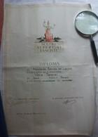 DIPLOMA SCUOLE SUPERIORI FASCISTE FASCISMO ROMA 1941 ANNO XIX - Diplomi E Pagelle