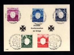 T14-GERMAN EMPIRE-MILITARY PROPAGANDA CARD GERMAN SPECIALTY MARKS IN WAR.1944.WWII.GeneralGouv.Krakau.DEUTSCHES REICH - Covers & Documents