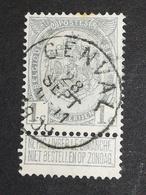 COB N ° 81 Oblitération Genval 1909 - 1905 Grosse Barbe