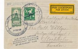 Nederland - 1928 - ABA-flight London-Stockholm - Drukwerk-cover Van Amsterdam Naar Stockholm - Luftpost