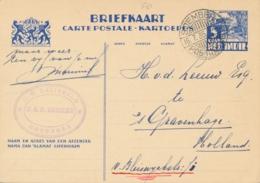 Nederlands Indië - 1935 - 5 Cent Karbouwen, Briefkaart G56 Van LB SOEMBERPOETJOENG Naar Den Haag / Nederland - Niederländisch-Indien