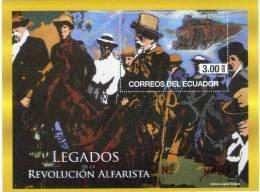 Lote EC3H, Ecuador, 2012, Legados De La Rev Alfarista, Alfaro, Train, Horse, Tren, Caballos, SS, HF - Ecuador