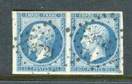 Superbe Paire De N° 14B - Cachet PC 3721 ( Constantine - Algérie ) - 1853-1860 Napoléon III