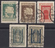 FIUME - 1923 - Lotto Di 5 Valori Usati: Yvert: 170, 172, 173, 176 E 178. - 8. Occupazione 1a Guerra