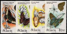 St Lucia 1991 Butterflies Unmounted Mint. - St.Lucia (1979-...)