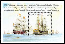 St Lucia 2005 Battle Of Trafalgar Souvenir Sheet Unmounted Mint. - St.Lucia (1979-...)