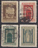 FIUME - 1923 - Lotto Di 4 Valori Usati: Yvert: 172, 173, 176 E 178. - 8. Besetzung 1. WK