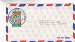 AIRMAIL CIRCULEE HAITI TO BUENOS AIRES YEAR 1984 STAMP AVEC ORD DU PLAQUE - BLEUP - Haití