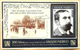 Uruguay 2019 ** HB Centenario Fallecimiento De Amado Nervo. - Uruguay