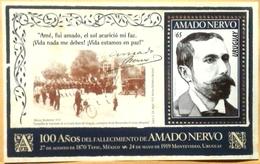 Uruguay 2019 ** HB Centenario Fallecimiento De Amado Nervo. Poeta Y Novelista Mexicano - Escritores