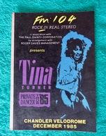 Sticker Autocollant Concert Tina TURNER - Zubehör & Versandtaschen