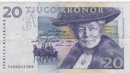 Suède - Billet De 20 Kronor - Selma Lagerlöf - Non Daté - P61a - Suède