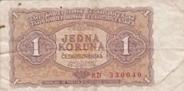 Tchécoslovaquie - Billet De 1 Koruna - 1953 - Tchécoslovaquie