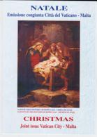 Vatican + Malta Folder  2007 Mint Stamps Christmas (LAR-C49) - Emissioni Congiunte