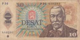 Tchécoslovaquie - Billet De 10 Korun - P.O. Hviezdoslav - 1986 - Tchécoslovaquie