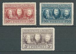 MONACO 1928 . N°s 111 , 112 Et 113 . Neufs * (MH) - Monaco