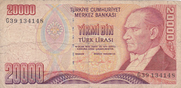 Turquie - Billet De 20000 Lira - 14 Janvier 1970 - Turquie