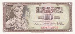 Yougoslavie - Billet De 10 Dinara - 12 Août 1978 - Neuf - Yugoslavia
