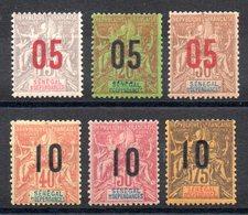 SENEGAL - YT N° 47 à 52 - Neufs * - MH - Cote: 21,00 € - Senegal (1887-1944)