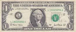 Etats-Unis D'Amérique - Billet De 1 Dollar - George Washington - San Francisco L - 2001 - Federal Reserve (1928-...)