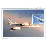 Carte Postale - Concorde - Aérospatiale Toulouse - 12/8/2002 Blagnac - Cartes-Maximum