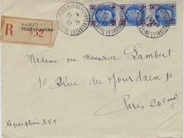 1942- Enveloppe De Maisons Alfort - Charentonneau  RECC. Affr. Bande De 3 Pétain 1,50 N° 552 - Marcophilie (Lettres)