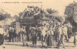 Scène Du Centre - Préparatifs Pour Le Battage Des Blés - Batteuse - Cecodi N'880 - Agriculture