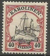 German Caroline Islands - 1900 Kaiser's Yacht 40pf  MH *    Sc 13 - Colony: Caroline Islands
