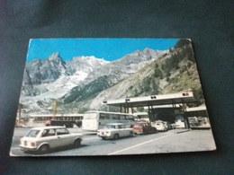 STORIA POSTALE  FRANCOBOLLO FARFALLA ITALIA AUTO CAR PULLMAN TIR INGRESSO TRAFORO BIANCO ENTREVES COURMAYEUR AOSTA - Autobus & Pullman