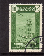 SPAIN ESPAÑA SPAGNA 1936 AIR MAIL CORREO AEREO PRESS BUILDING MADRID CENT. 10c USATO USED OBLITERE' - Gebraucht